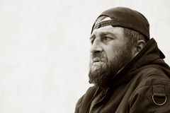 Sad homeless man Royalty Free Stock Photography