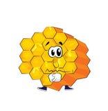Sad honeycomb cartoon Stock Photo