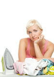 Sad housewife Royalty Free Stock Photo