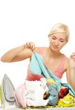 Sad housewife Stock Photo