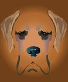 SAD hund Vektor Illustrationer