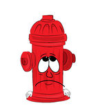 Sad hydrant cartoon Royalty Free Stock Photography