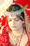 Sad Indian Bride. An hindu gujarati Bride looking sad at the time of her wedding Royalty Free Stock Photography