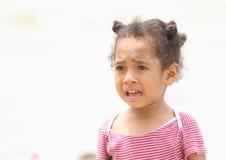 Sad indonesian girl. Sad little indonesian girl crying Stock Images
