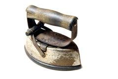 Sad Iron. An antique sad iron isolated on white background Royalty Free Stock Photo