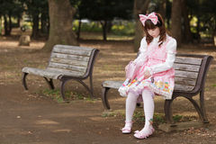 Sad japanese girl Royalty Free Stock Photos