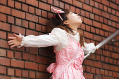 Sad japanese lolita Royalty Free Stock Photography