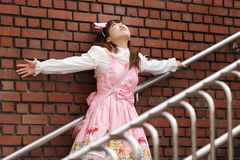 Sad japanese lolita Royalty Free Stock Photo