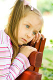 Sad kid Stock Image