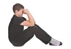 Sad kid crying Royalty Free Stock Image