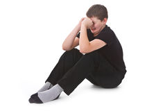 Sad kid crying Royalty Free Stock Images