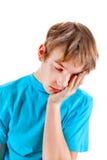 Sad Kid isolated Stock Photography