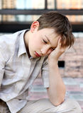Sad Kid outdoor Royalty Free Stock Photo