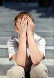 Sad Kid outdoor Stock Photos