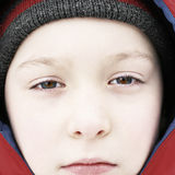 Sad Kid Portrait Royalty Free Stock Photos