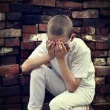 Sad Kid Stock Photo