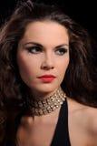 SAD kvinna för brunett royaltyfria bilder
