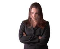 SAD kvinna för brunett Fotografering för Bildbyråer