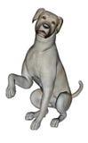 Sad labrador dog sitting - 3D render Royalty Free Stock Photography