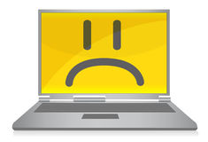 Sad laptop Stock Images