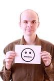 SAD leende Fotografering för Bildbyråer