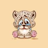 Sad Leopard cub crying Royalty Free Stock Photo