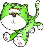 Sad Leopard Vector Illustration Art Royalty Free Stock Image