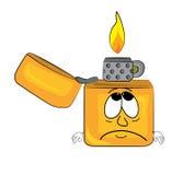 Sad lighter cartoon Royalty Free Stock Photography