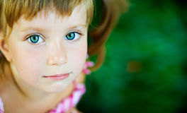 Sad liitle girl Royalty Free Stock Images