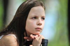 SAD liten flicka Arkivbild