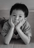 Sad little Asian boy Stock Photography