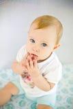 Sad little baby girl Royalty Free Stock Photo
