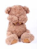 Sad little bear royalty free stock photography