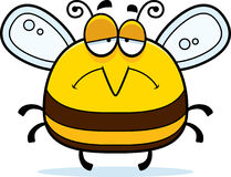 Sad Little Bee. A cartoon illustration of a bee looking sad vector illustration
