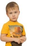 Sad little boy Stock Images