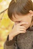 Sad little boy. Portrait of a sad little boy close-up Stock Photography
