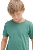 Sad little boy thinking Stock Image