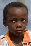 sad little boy in zanzibar Stock Image