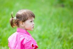 Sad little girl Stock Image