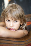 Sad little girl Royalty Free Stock Photos