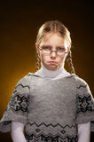 Sad little girl Stock Image