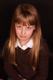 Sad little girl. A little girl pouts and is sad royalty free stock photography