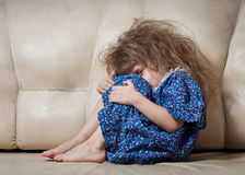 Sad little girl. Royalty Free Stock Photos