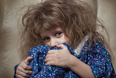 Sad little girl. Royalty Free Stock Image