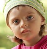 Sad little girl 3 years old Stock Photo