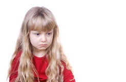 Sad Little Girl Stock Photos