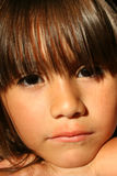 Sad Little Girl Stock Images