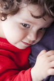 Sad little girl royalty free stock images