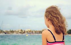 Sad little girl. Stock Images