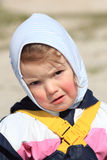 Sad little girl portrait Stock Photo